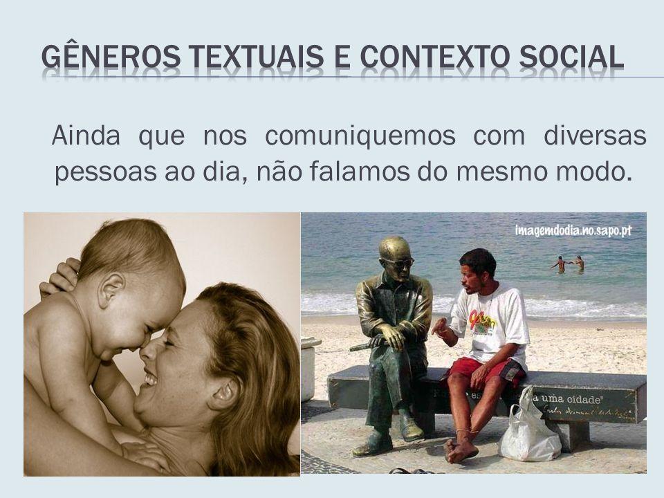 Gêneros textuais e contexto social
