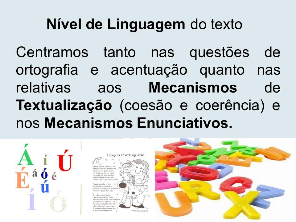 Nível de Linguagem do texto