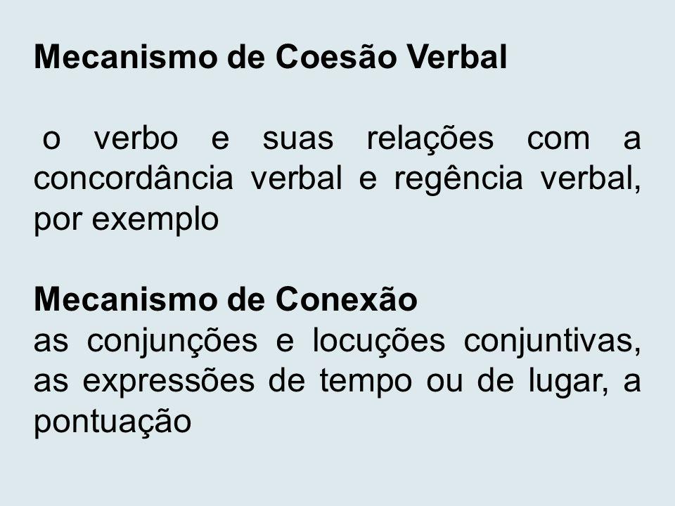 Mecanismo de Coesão Verbal