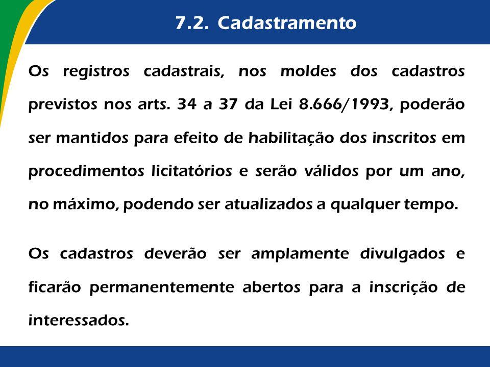 7.2. Cadastramento