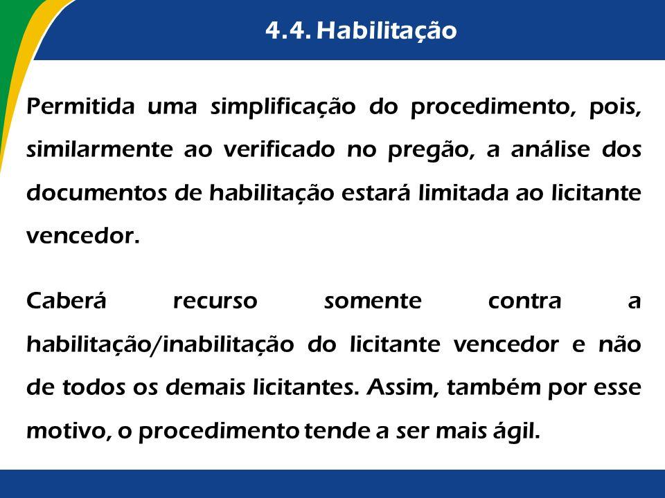 4.4. Habilitação