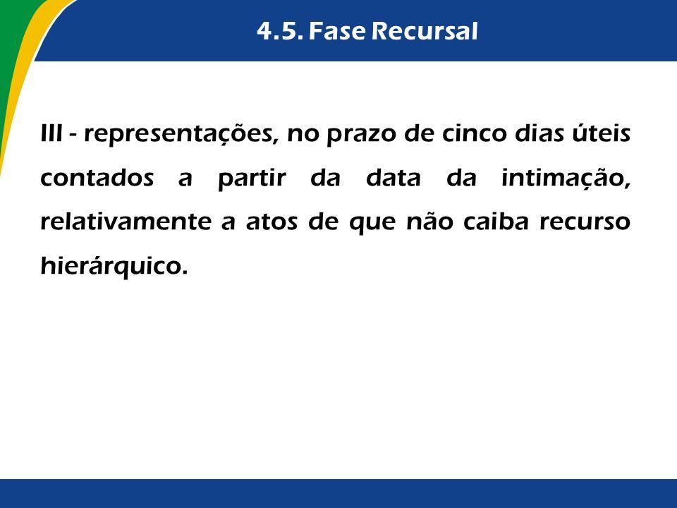 4.5. Fase Recursal