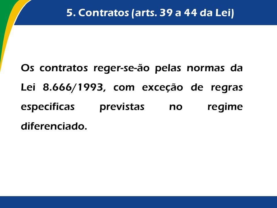 5. Contratos (arts. 39 a 44 da Lei)