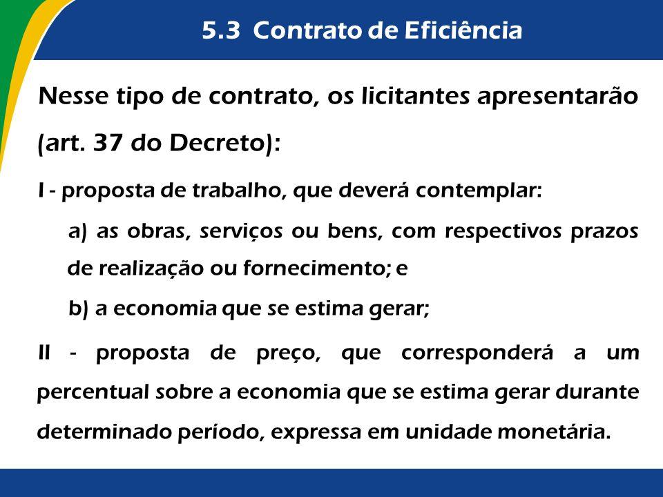 5.3 Contrato de Eficiência
