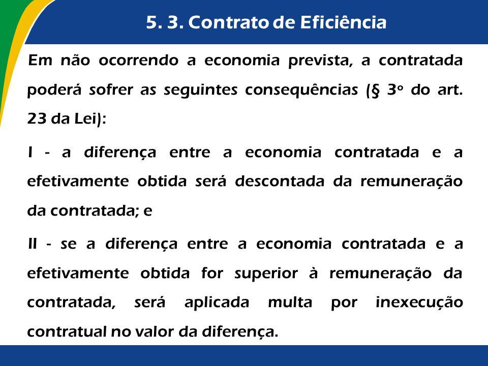 5. 3. Contrato de Eficiência
