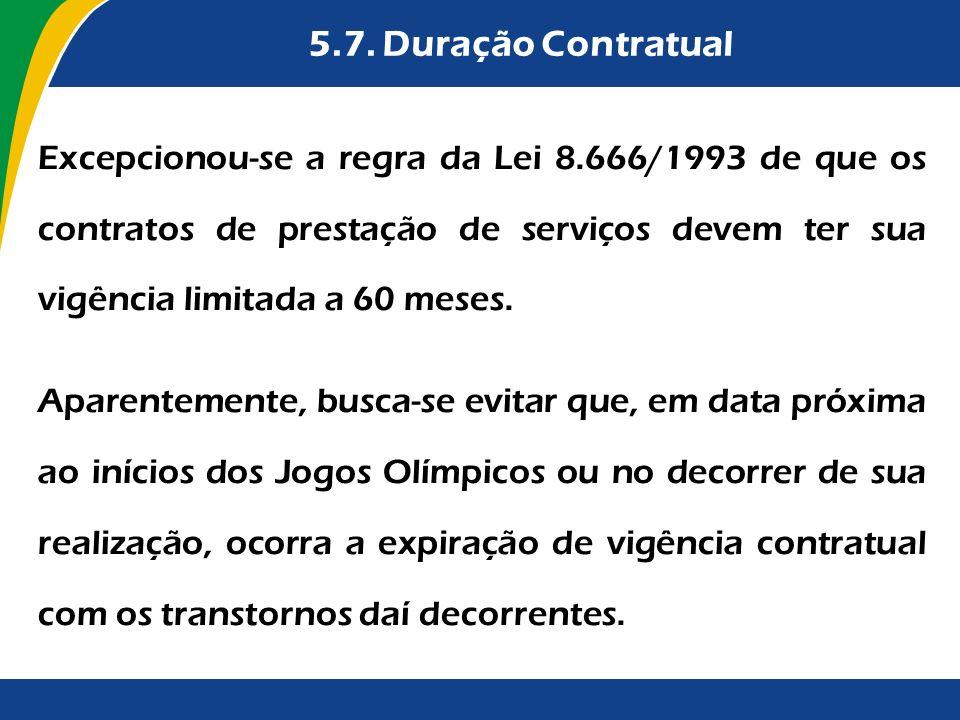 5.7. Duração Contratual