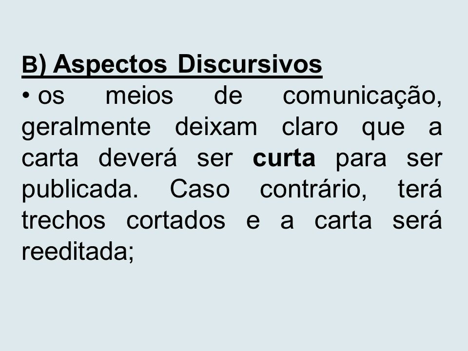 B) Aspectos Discursivos