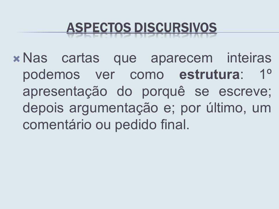 Aspectos Discursivos