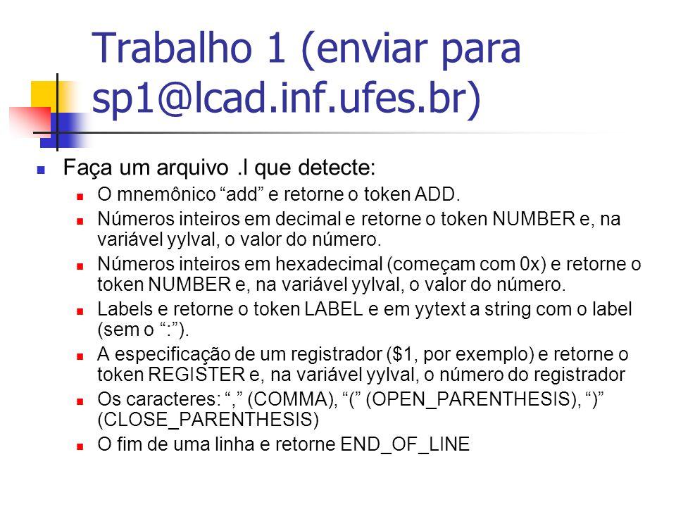 Trabalho 1 (enviar para sp1@lcad.inf.ufes.br)