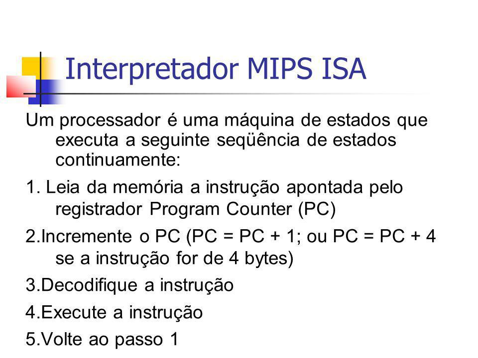 Interpretador MIPS ISA