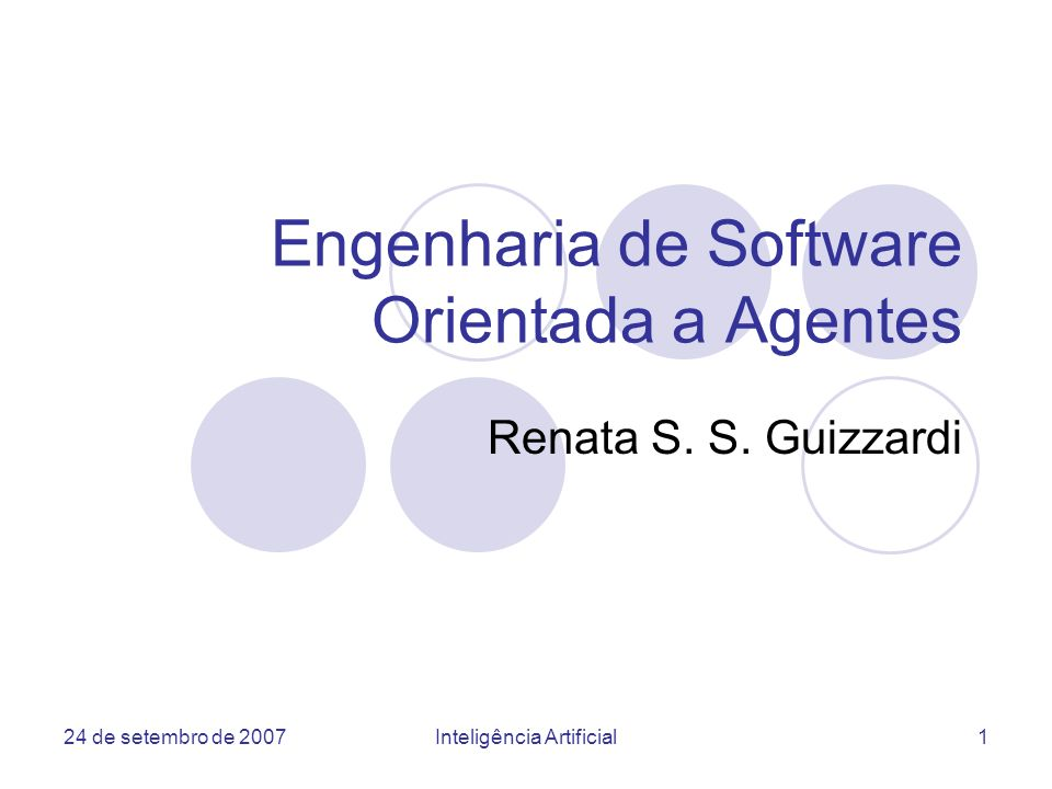 Engenharia de Software Orientada a Agentes
