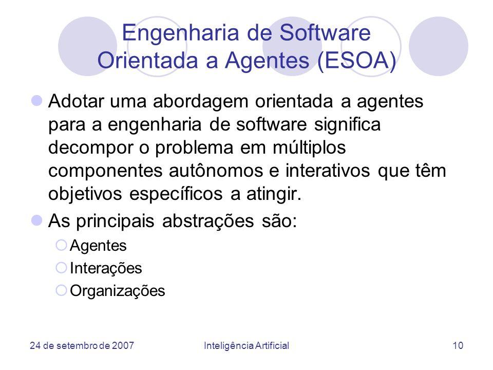 Engenharia de Software Orientada a Agentes (ESOA)