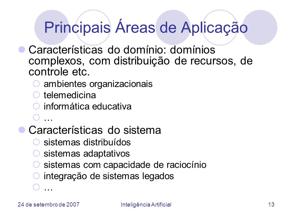 Principais Áreas de Aplicação