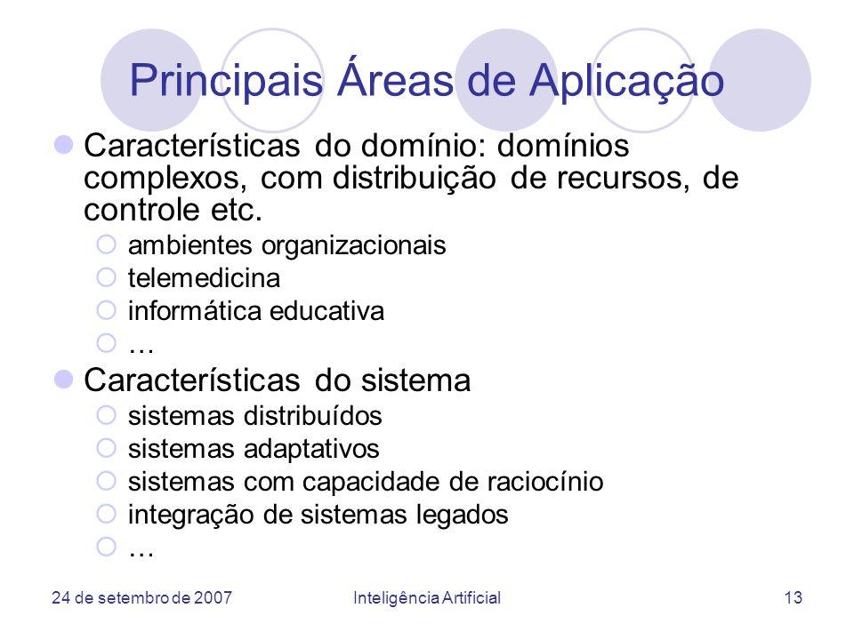 Principais Áreas de Aplicação