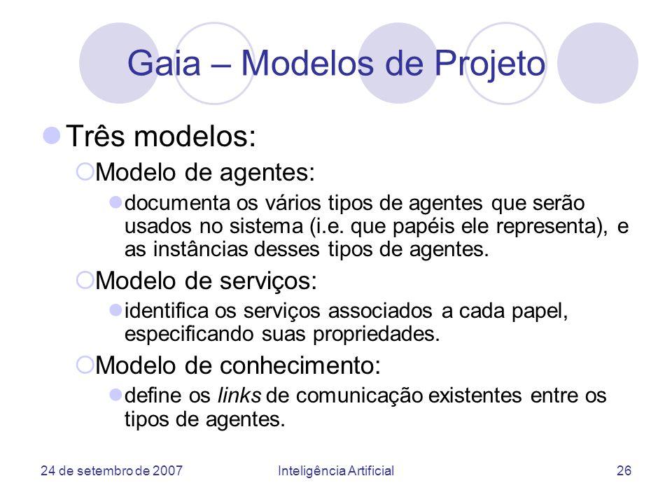 Gaia – Modelos de Projeto