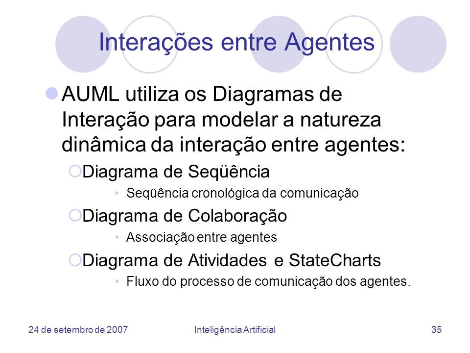 Interações entre Agentes