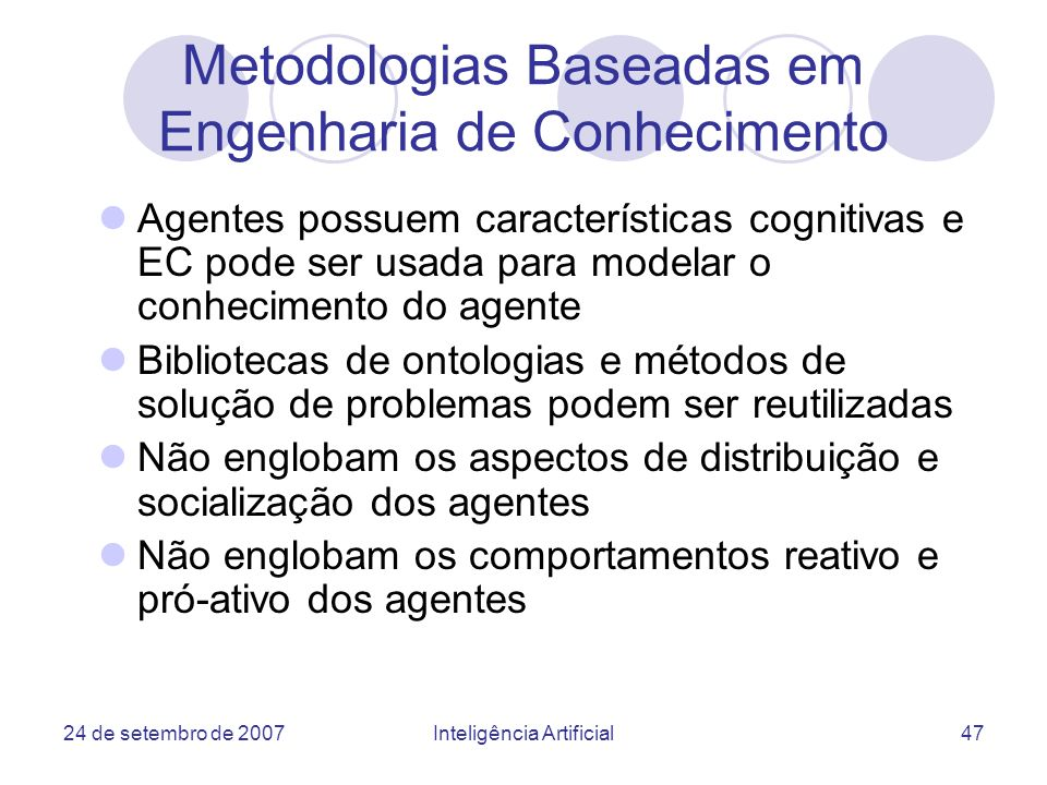 Metodologias Baseadas em Engenharia de Conhecimento