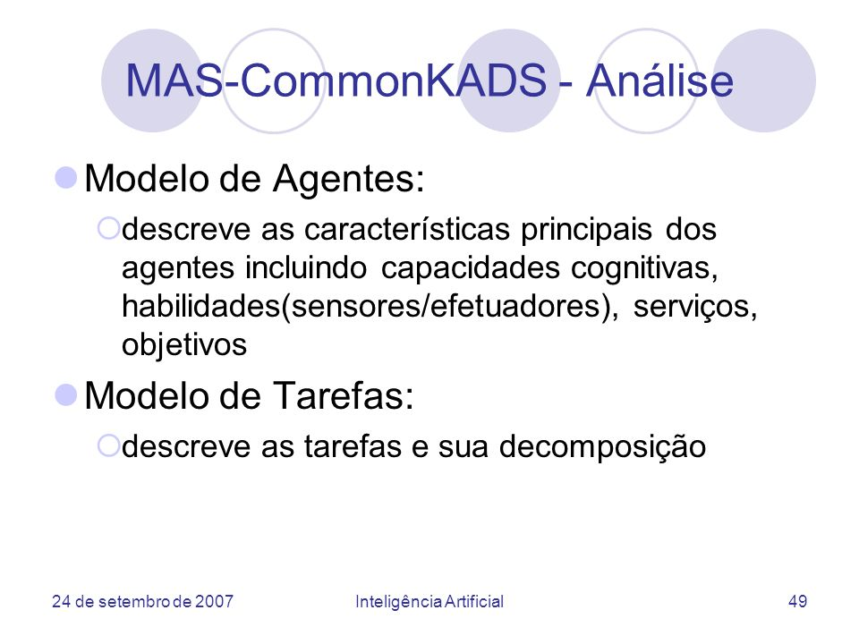 MAS-CommonKADS - Análise