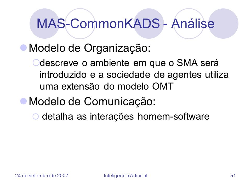 MAS-CommonKADS - Análise