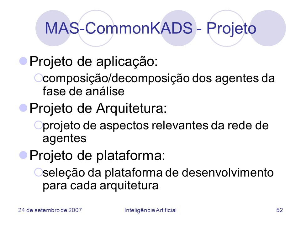 MAS-CommonKADS - Projeto