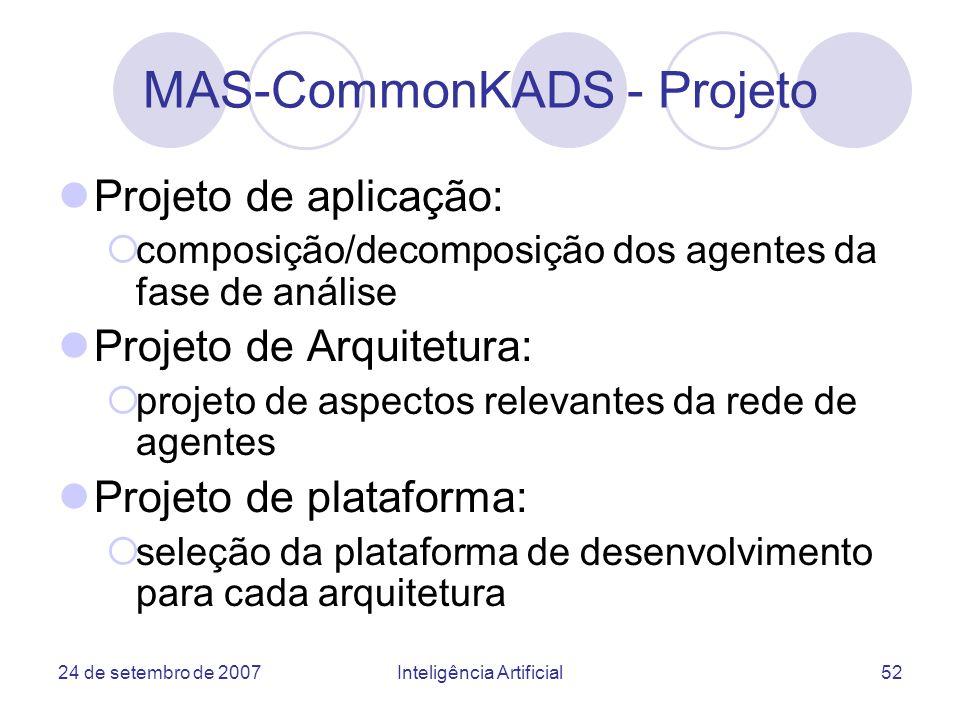MAS-CommonKADS - Projeto
