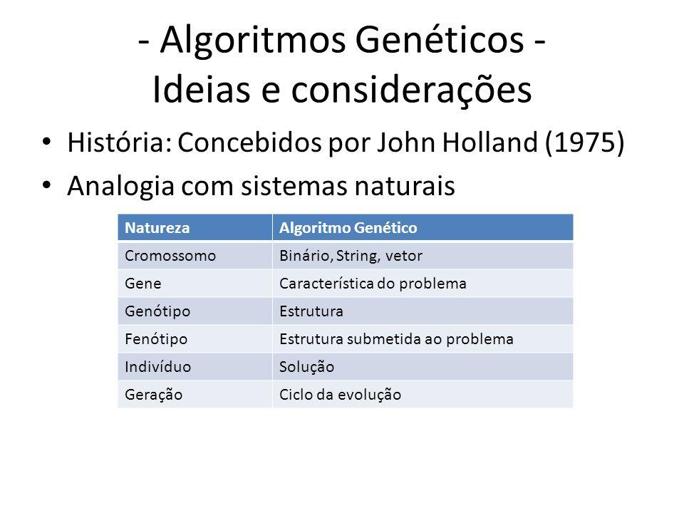 - Algoritmos Genéticos - Ideias e considerações