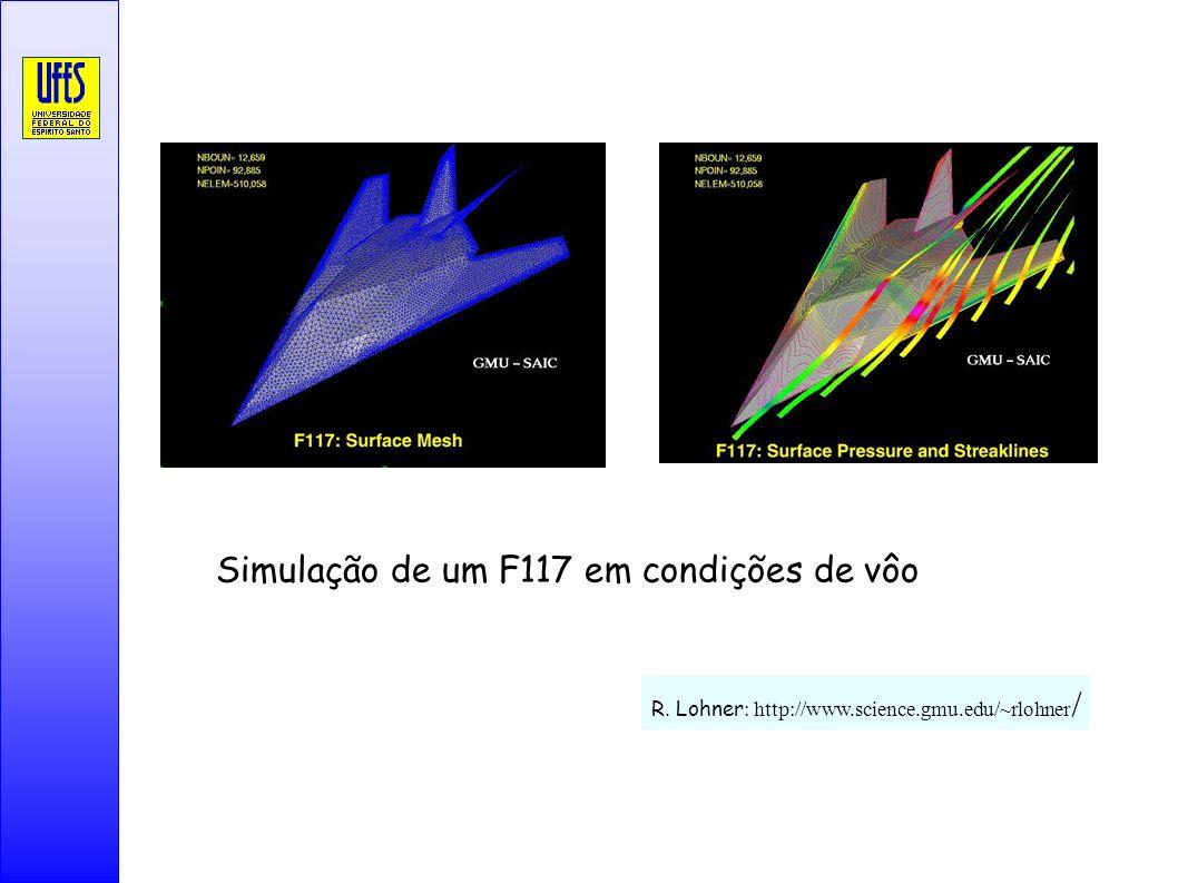 Simulação de um F117 em condições de vôo