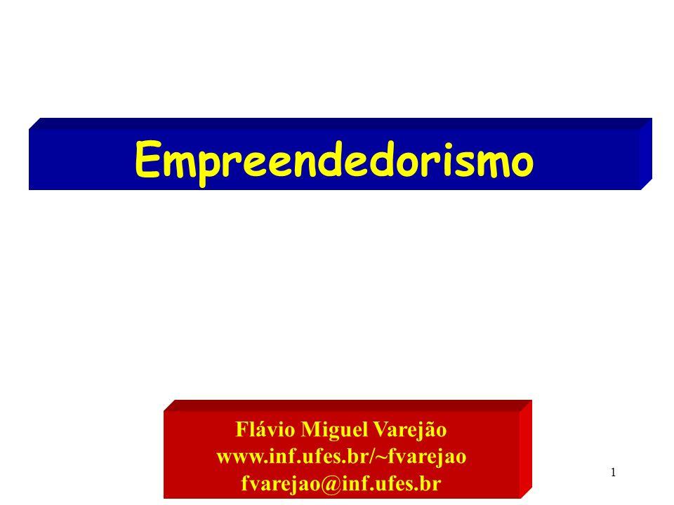 Empreendedorismo Flávio Miguel Varejão www.inf.ufes.br/~fvarejao