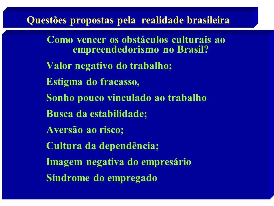 Questões propostas pela realidade brasileira