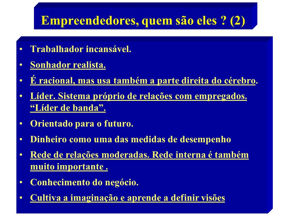 Empreendedores, quem são eles (2)