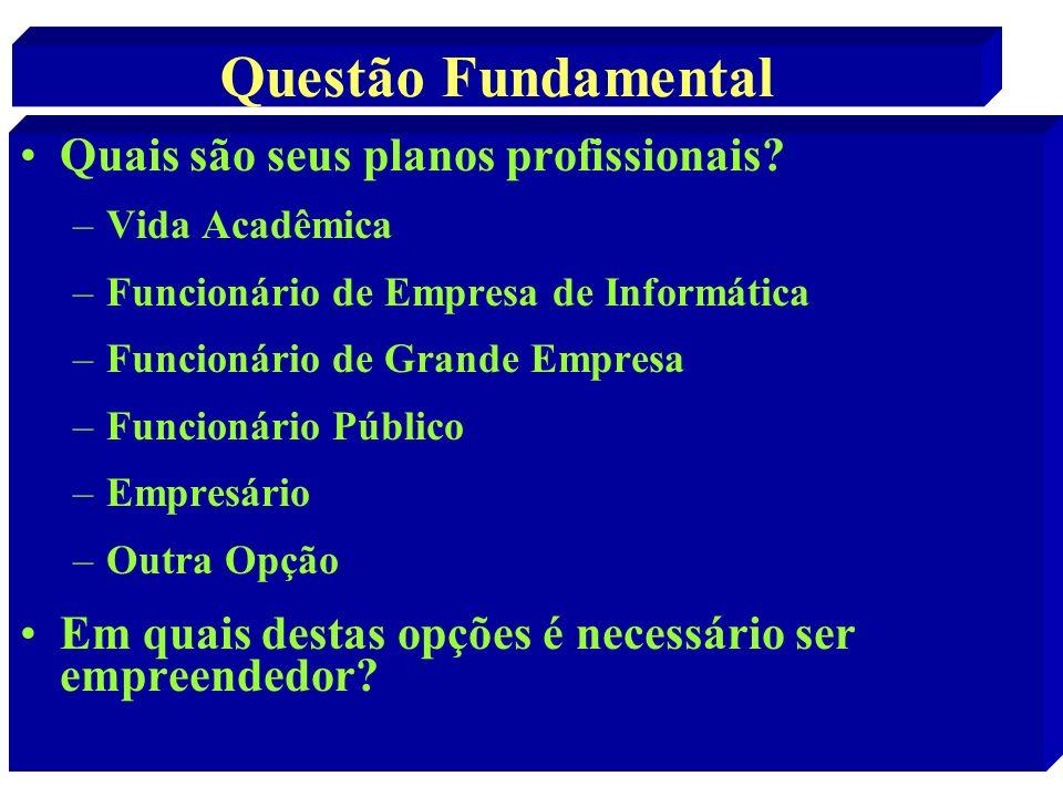 Questão Fundamental Quais são seus planos profissionais