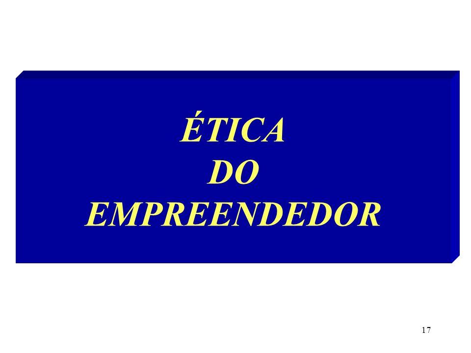 ÉTICA DO EMPREENDEDOR