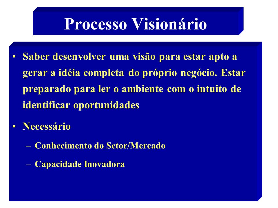 Processo Visionário