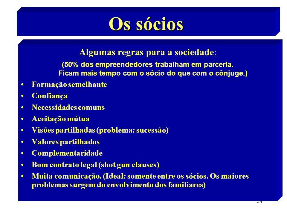 Algumas regras para a sociedade: