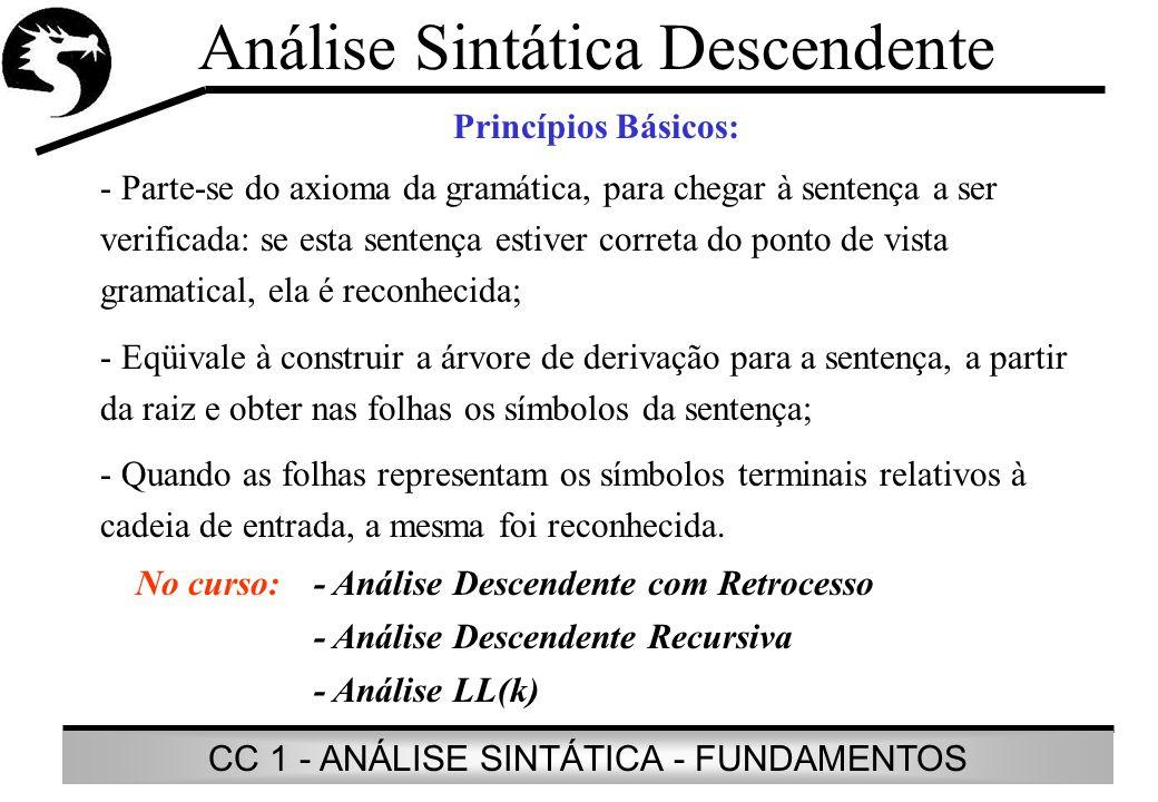 Análise Sintática Descendente