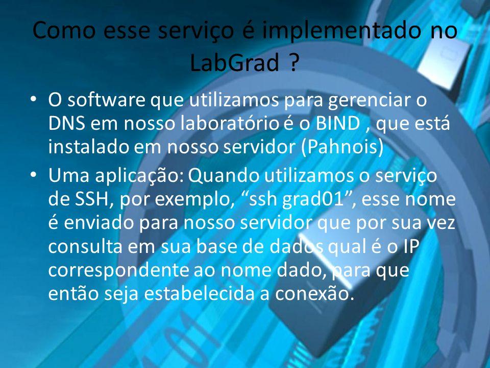 Como esse serviço é implementado no LabGrad