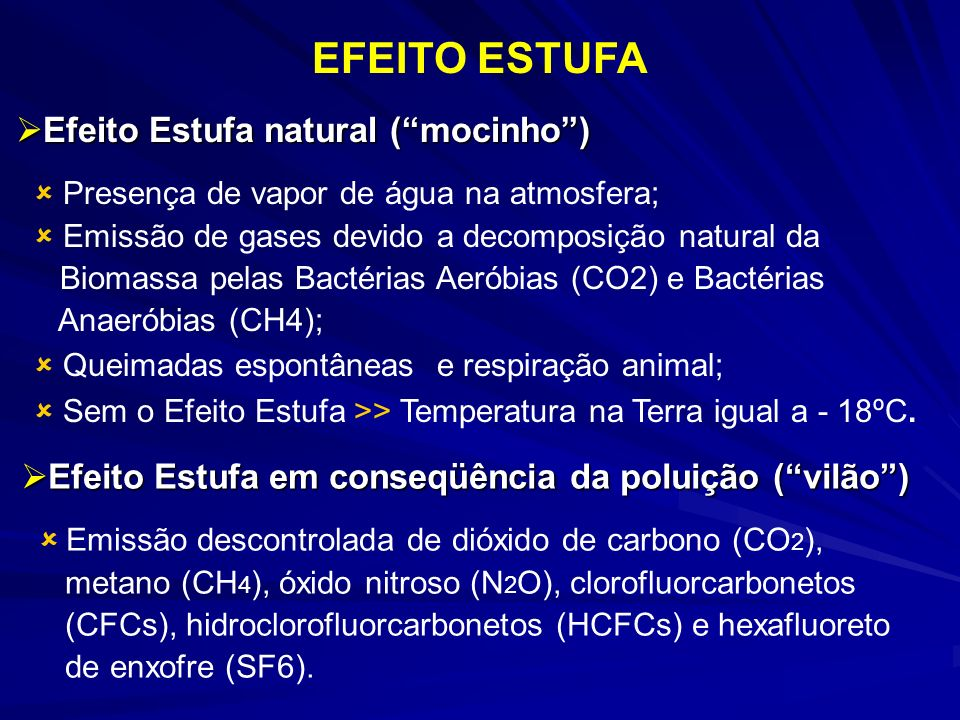 EFEITO ESTUFA Efeito Estufa natural ( mocinho )