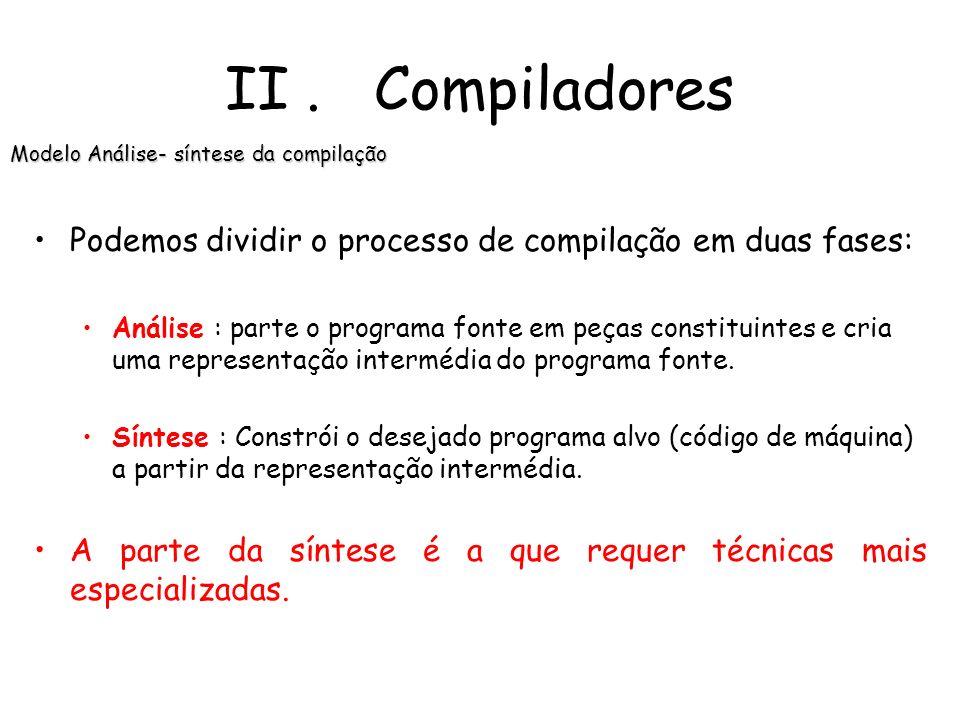 Modelo Análise- síntese da compilação