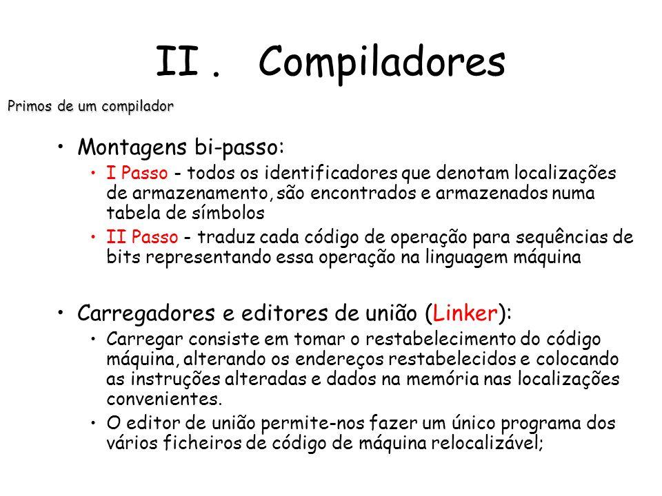 Primos de um compilador
