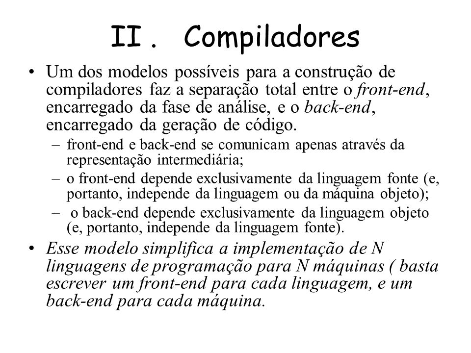 II . Compiladores
