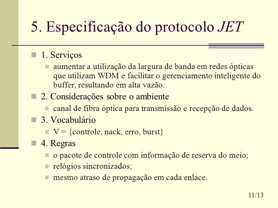 5. Especificação do protocolo JET