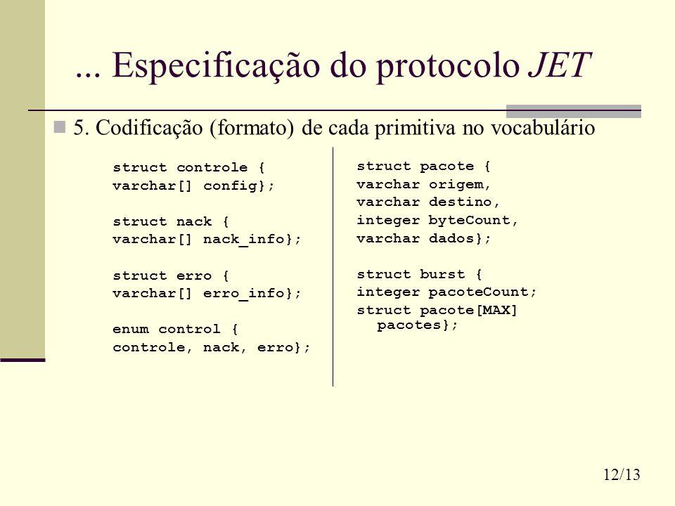 ... Especificação do protocolo JET