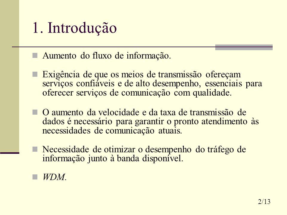 1. Introdução Aumento do fluxo de informação.