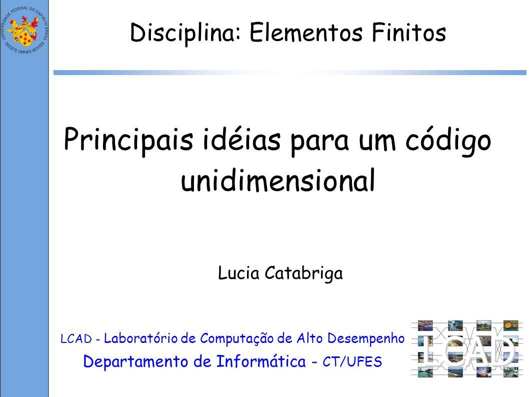 LCAD Principais idéias para um código unidimensional