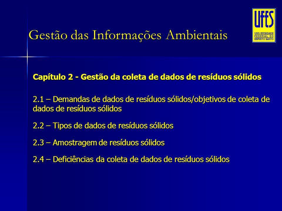 Gestão das Informações Ambientais