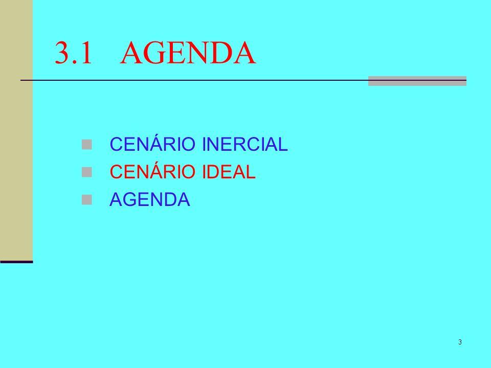 3.1 AGENDA CENÁRIO INERCIAL CENÁRIO IDEAL AGENDA