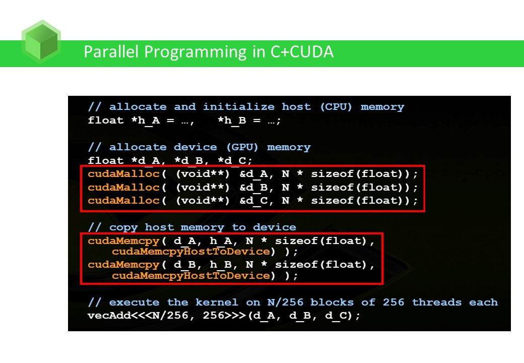 Parallel Programming in C+CUDA
