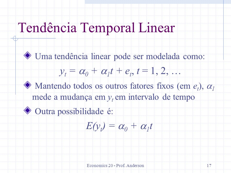 Tendência Temporal Linear