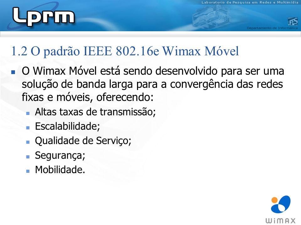 1.2 O padrão IEEE 802.16e Wimax Móvel