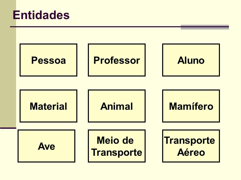 Entidades Pessoa Professor Aluno Material Animal Mamífero Ave Meio de